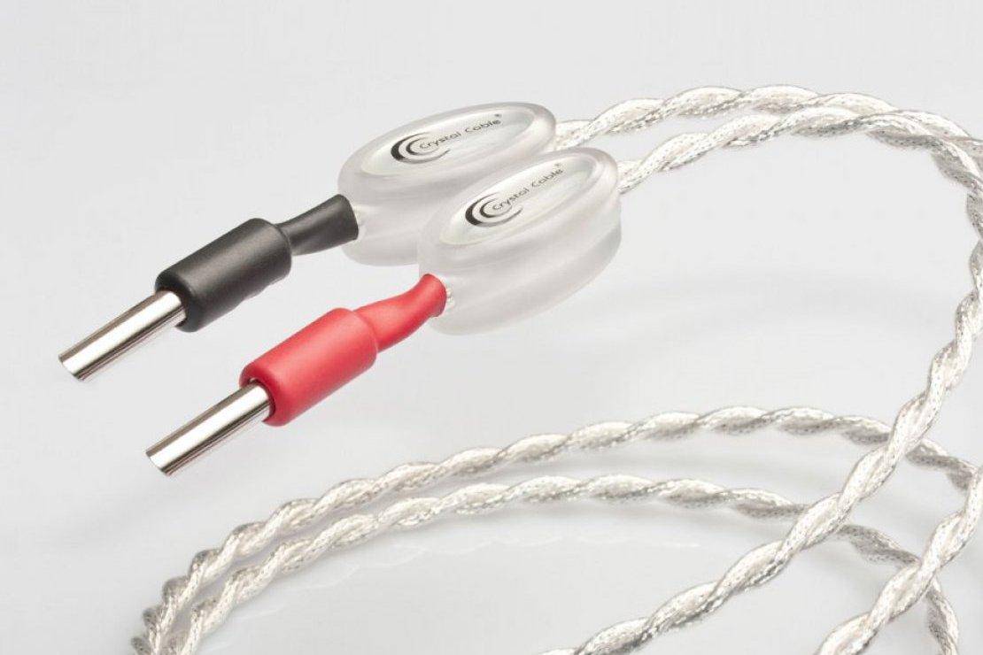 Crystal Cable CrystalSpeak Ultra Diamond シングルワイヤ端子用 2.0m バナナ クリスタルケーブル スピーカーケーブル ペア