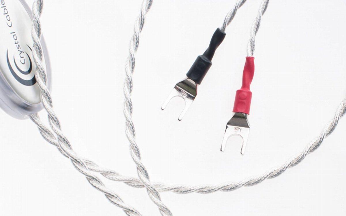 Crystal Cable CrystalSpeak Ultra Diamond シングルワイヤ端子用 2.0m Yラグ クリスタルケーブル スピーカーケーブル ペア