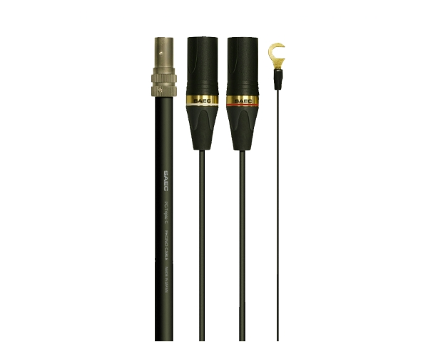 SAEC SCX-5000(L) [L型→XLR] 1.3m サエク フォノケーブル