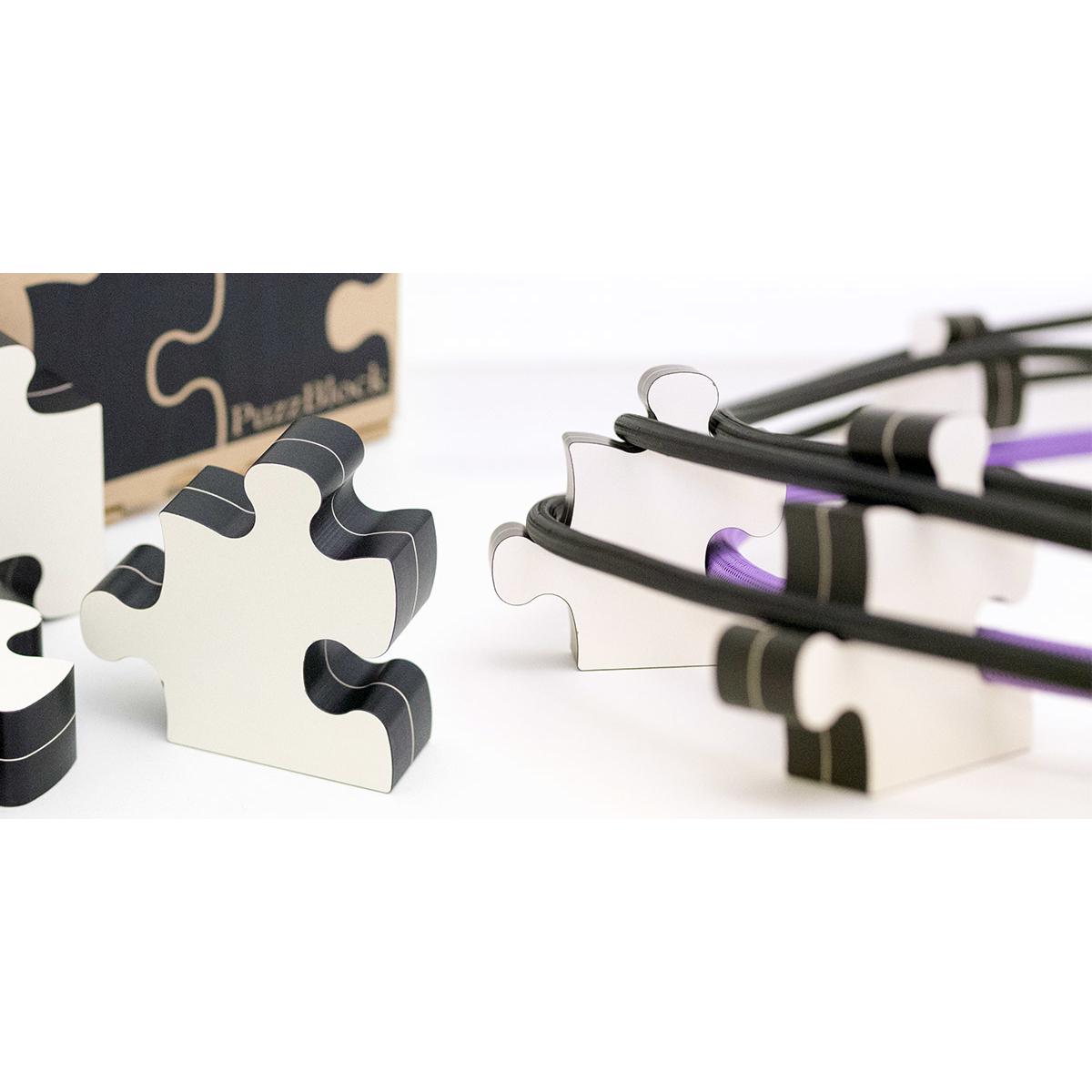 KOJO TECHNOLOGY PuzzBlock ホワイト コージョーテクノロジー ケーブルインシュレーター 一箱4個入