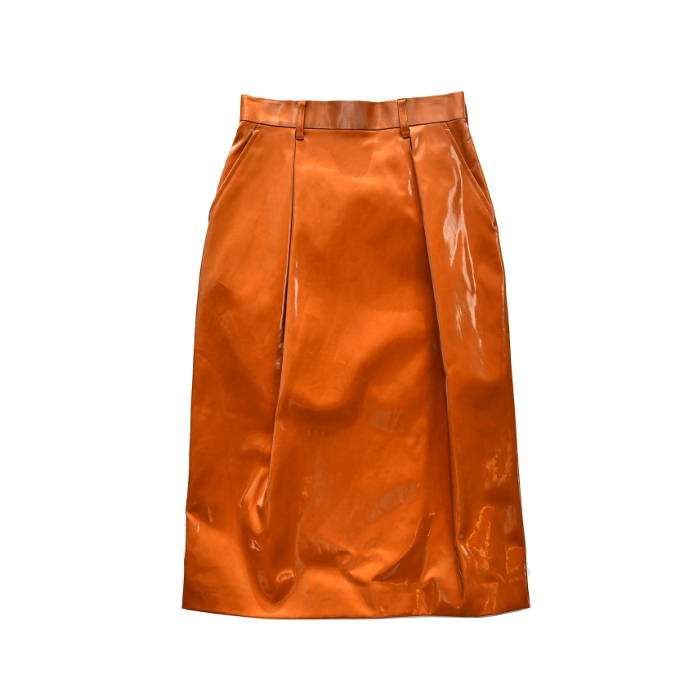 SALE JOHN LAWRENCE SULLIVAN ジョンローレンスサリバン レディース COATED COTTON TUCKED SKIRT 2D017-0619-05