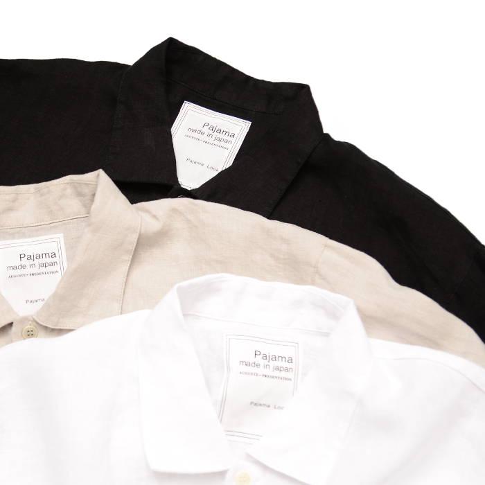 オーギュストプレゼンテーション 長袖レギュラーカラーシャツ AUGUSTE-PRESENTATION pajama look リネンシーツ AUPJAW003