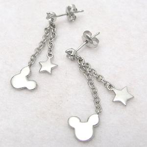 Disney pierced earrings fs3gm