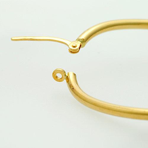 Unoaerre K18 hoop earrings fs3gm
