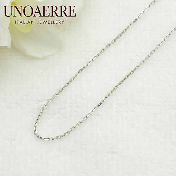 ウノアエレ【UNOAERRE】K18WGホワイトゴールド ネックレス チェーン #3058