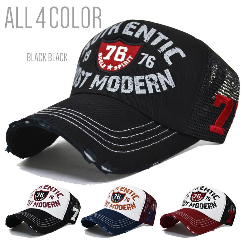3a8fc54b7c3e9 帽子メッシュキャップメンズ76ワッペンキャップCAPメンズUVカット紫外線対策アメリカンカジュアルアメカジ