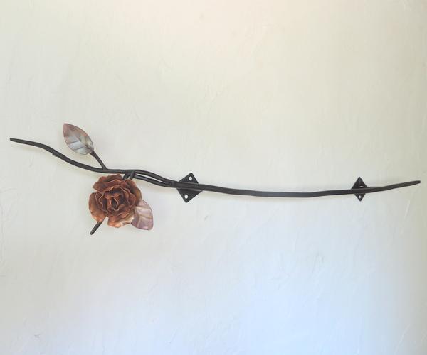 ☆1点のみ☆銅とアイアンの薔薇デザインハンガー1