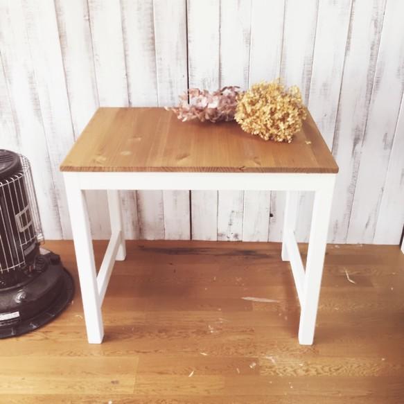 職人手作り NATURA 165.ダイニングテーブル 対面 二人用 一人暮らし 新婚 デスク 作業台カントリー 北欧 シンプル スタイリッシュ 店舗什器 新築 リフォーム リノベーション