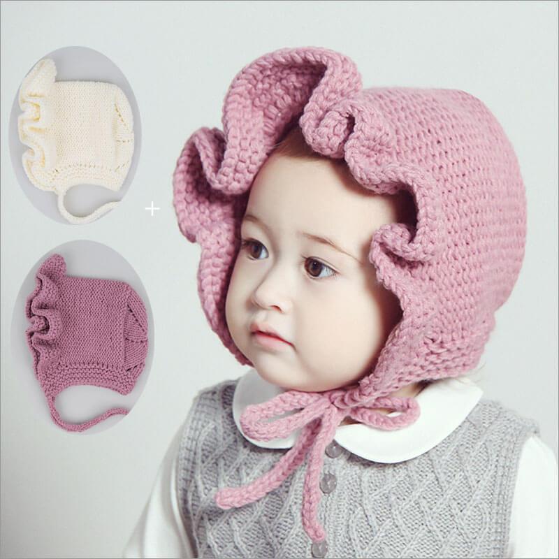 d3dc3eaf04f1ac ニット帽ニット帽子ボンボン付き暖かく可愛い帽子ニットキッズベビー子供赤ちゃん子供小物
