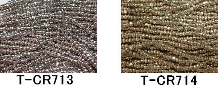 シードビーズ グラスビーズ の品揃え最大級 毎日がバーゲンセール AA003 TOHOシードビーズ トーホー 予約 糸通しスリーカットビーズ 《ニッケルメッキ》T-CR713~714 RPT