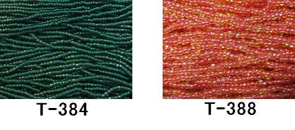 [AA999]【大口割引・卸価格販売】【40%OFF】TOHO糸通し特小ビーズ《着色オーロラ》T-384,T-388 100M分(約96,000粒)[RPT]