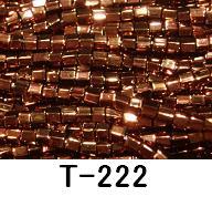 [AA999]【大口割引・卸価格販売】【40%OFF】TOHO糸通し六角小ビーズ《銅ラスター》T-222 60M分(約31,200粒)[RPT]