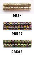 爆安 MIYUKI ミユキのデリカビーズの3g量り売り DB34 DB507 DB508 BA003 ミユキ モデル着用&注目アイテム 3g 丸 デリカビーズ RPT