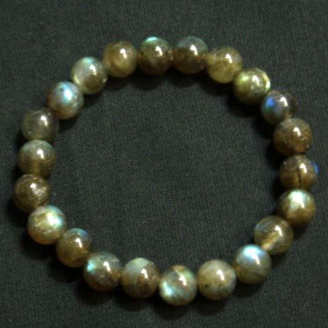 [HA016]天然石(パワーストーン)ブレスレット ラブラドライト(AAA) 8mm 内側約14.5cm【保管用ケース付き】