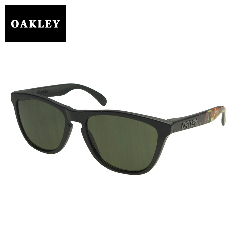 24-401 Oakley sunglasses OAKLEY FROGSKINS( frog skin) Alpha Decay MATTE BLACK/DARK GREY black system eyewear sunglasses