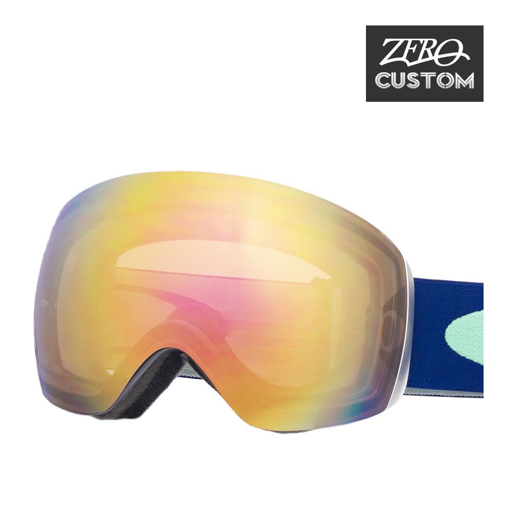 オークリー + ZERO 当店独自カスタム フライトデッキ スタンダードフィット ゴーグル ozcg-fld009 OAKLEY FLIGHT DECK スノーゴーグル