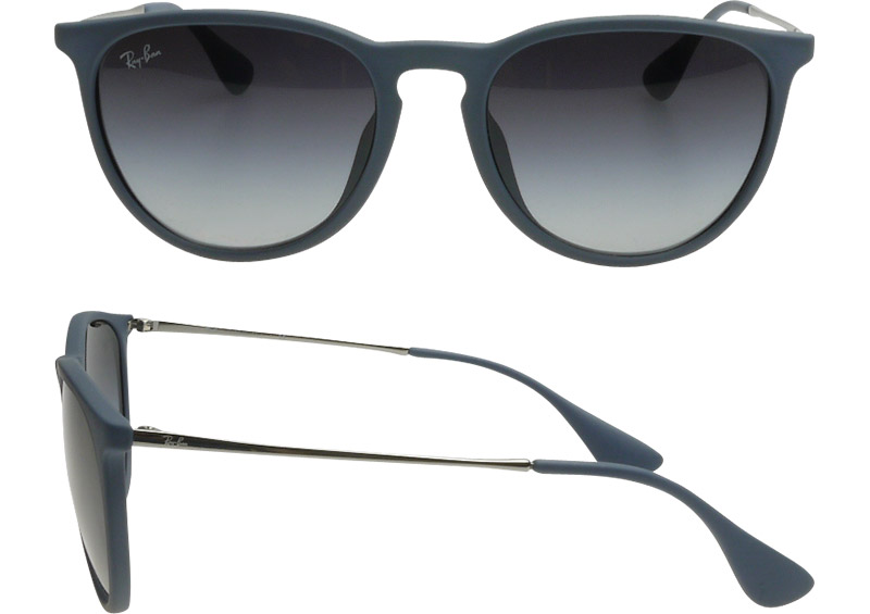 Ray-Ban Sunglasses RB4171F 60028G 54 Erika Full Fit Rubber Blue,Gray Gradient