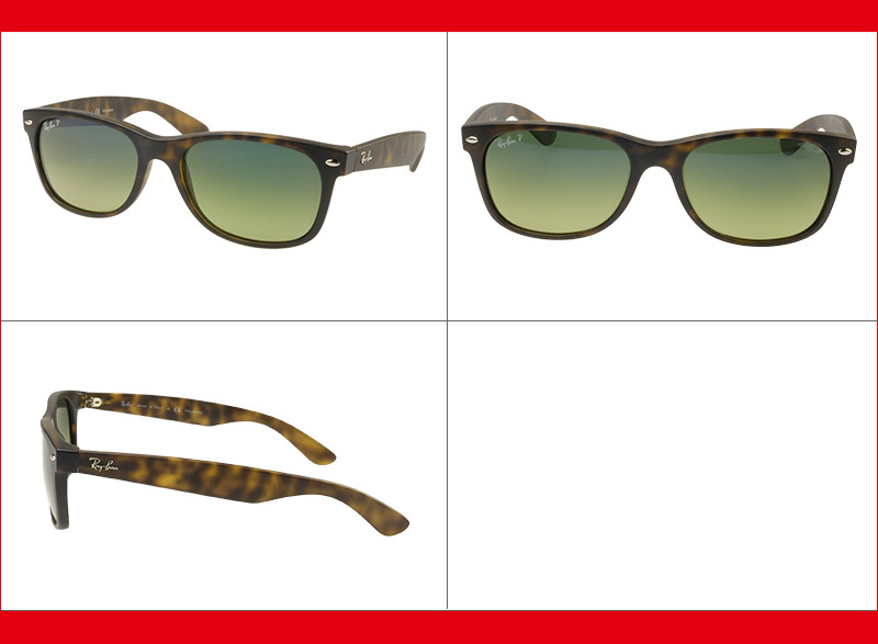Ray-Ban Sunglasses RB2132F 894/76 55 New Wayfarer Full Fit Matte Havana,Blue/Green Mirror Polarized