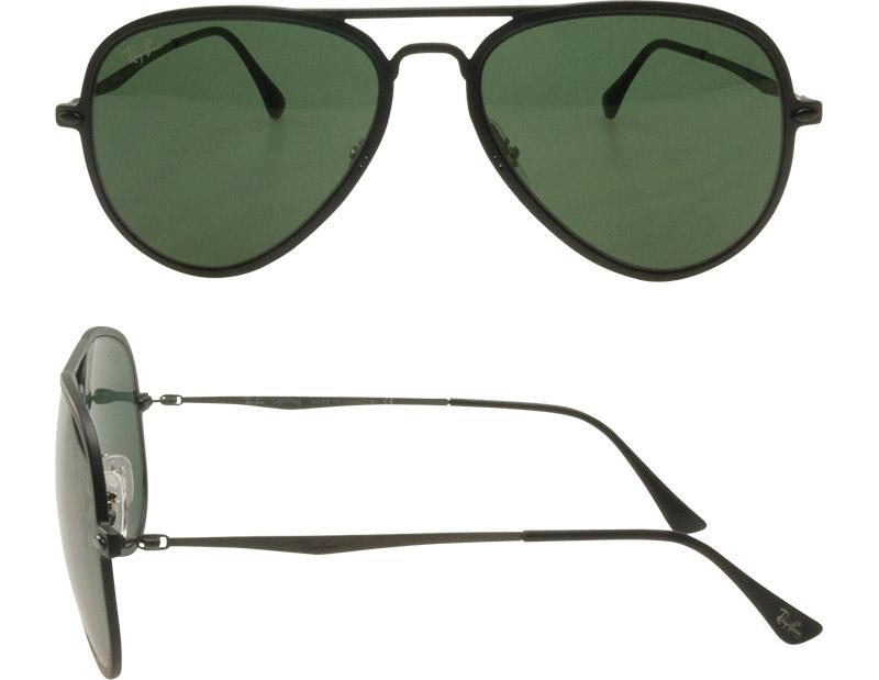 Ray-Ban Sunglasses RB4211 601S71 56 Aviator Matt Black,Gray Green