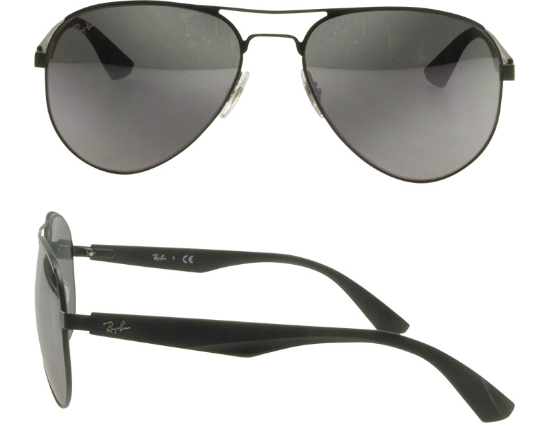 d69ac15cb9c OBLIGE  Ray-Ban Sunglasses RB3523 006 6G 59 Matt Black