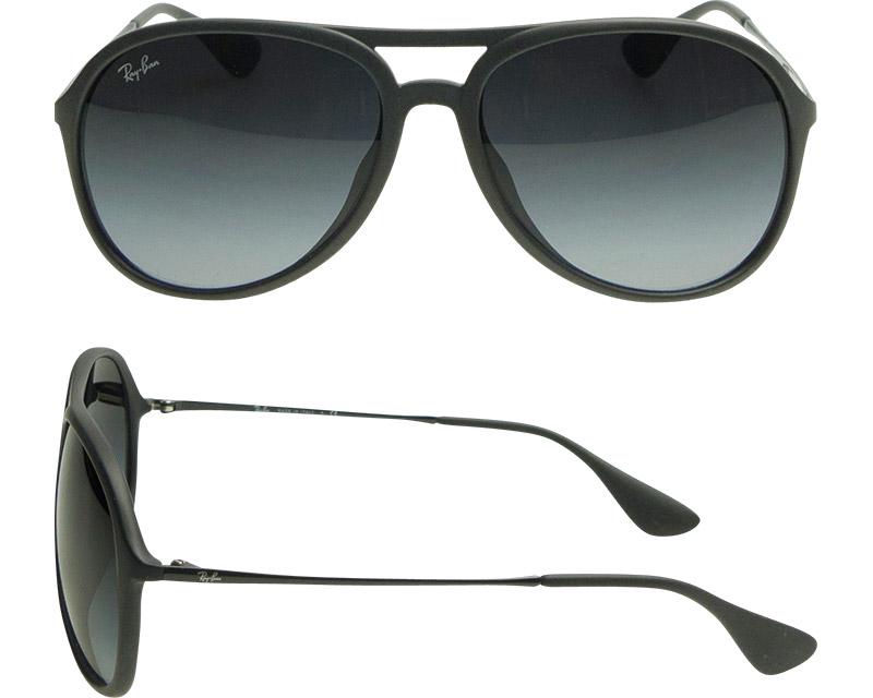 Ray-Ban Sunglasses RB4201F 622/8G 59 Alex Full Fit Rubber Black,Gray Gradient Dark Gray