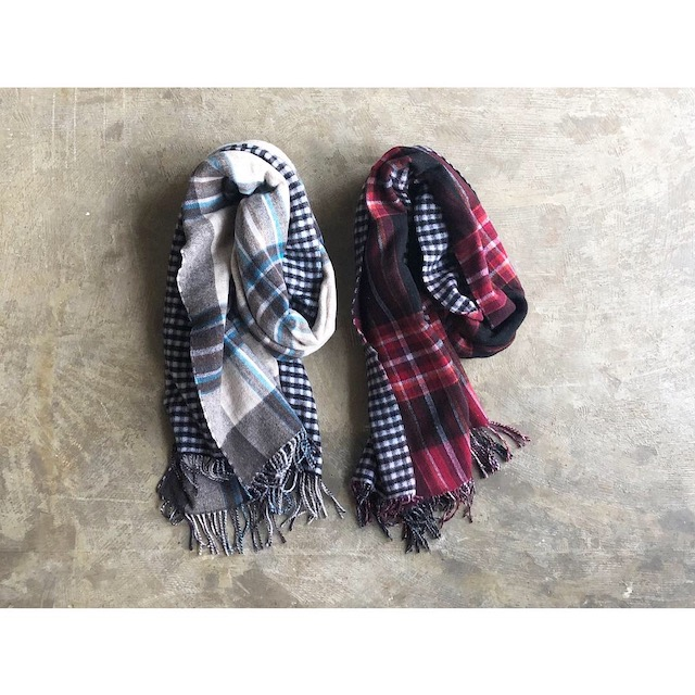 SERVICE PRICE 20割【SOIL】ソイル DOUBLE FACE CHECK STOLE style No.NSLP1751