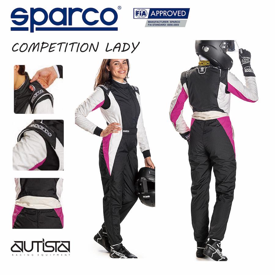 送料無料 SPARCO スパルコ レーシングスーツ COMPETITION+ LADY 走行会 4輪 FIA公認【店頭受取対応商品】