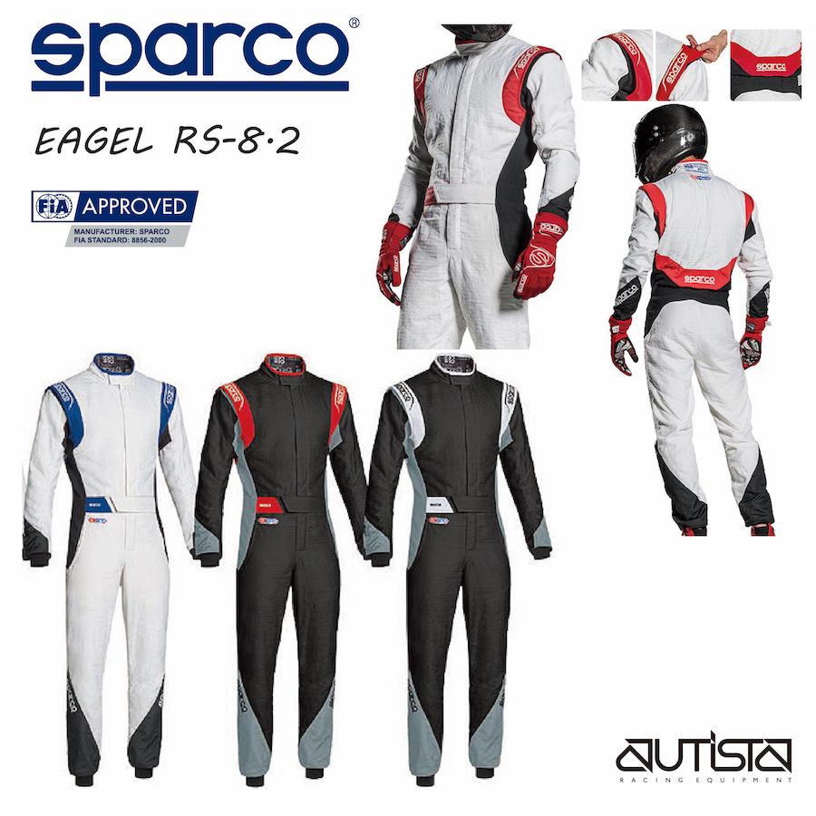 送料無料 SPARCO スパルコ レーシングスーツ EAGLE RS-8.2 FIA公認 4輪 走行会【店頭受取対応商品】