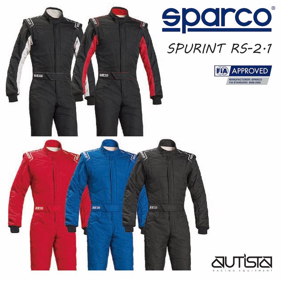 送料無料 SPARCO スパルコ レーシングスーツ SPRINT RS-2.1 走行会 4輪 FIA公認【店頭受取対応商品】