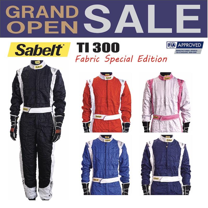 送料無料 sabelt サベルト レーシングスーツ TI 300 Fabric Special Edition 走行会 4輪 FIA公認【店頭受取対応商品】