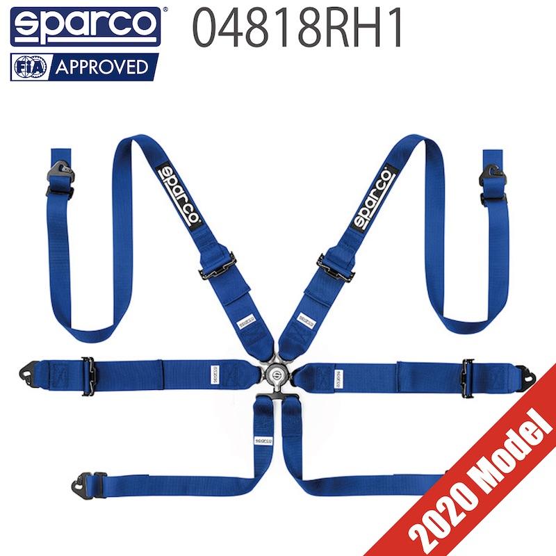 送料無料 Sparco ハーネス 04818RH1 スパルコ 6点式シートベルト HANS対応【店頭受取対応商品】