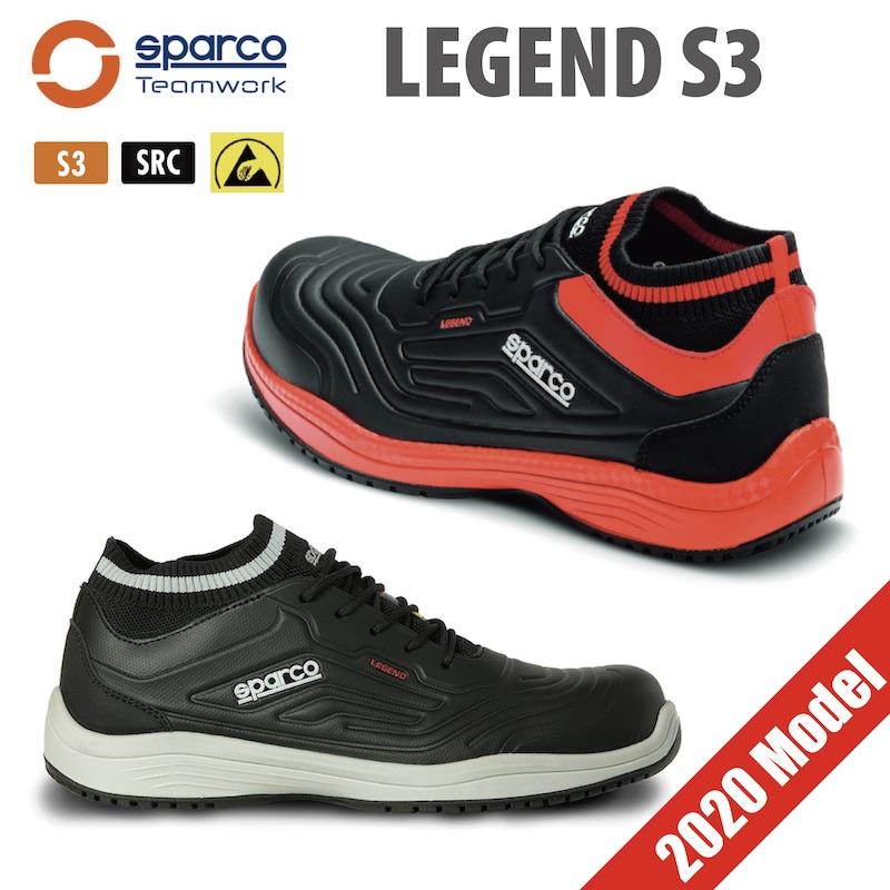 Sparco TEAM WORK LEGEND S3 メカニックシューズ 安全靴 スパルコ チームワーク レジェンド 整備 撥水 おしゃれ【店頭受取対応商品】