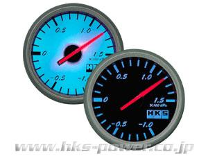HKS φ60ダイレクトブライトメーター 温度計 (センサ長/2.5m) 50 - 150 (℃) 黒 パネル / 白 目盛り