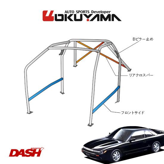 OKUYAMA オクヤマ DASH ロールバー スチール製 シルビア PS13/S13 [10P/No.20/2名] ダッシュボード貫通タイプ ※個人宅への配送不可、送料注意