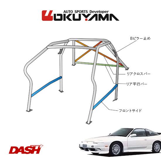 OKUYAMA オクヤマ DASH ロールバー スチール製 180SX RPS13/RS13 [11P/No.14/2名] ダッシュボード逃げタイプ ※個人宅への配送不可、送料注意