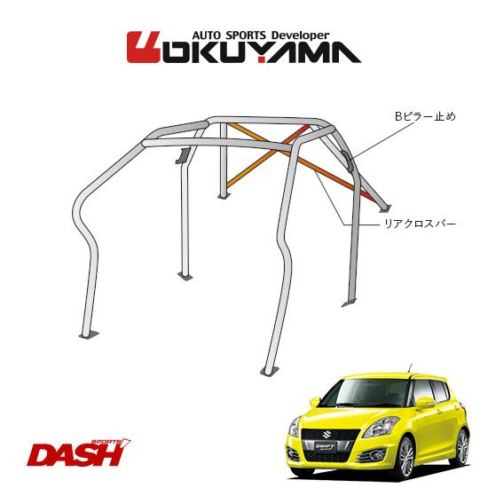 OKUYAMA オクヤマ DASH ロールバー スチール製 スイフトスポーツ ZC32S [8P/No.11/2名] ダッシュボード逃げタイプ ※個人宅への配送不可、送料注意