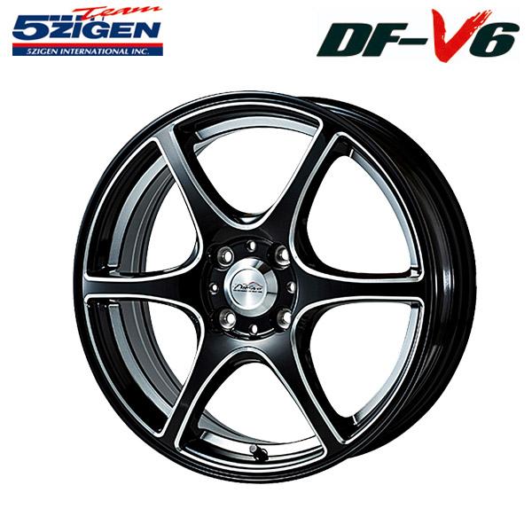 5ZIGEN ホイール DF-V6 ブラックマシニング 16×6.5J 4H PCD100 +38