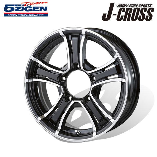 5ZIGEN ホイール J-CROSS ブラックポリッシュ 16×5.5J 5H PCD139.7 +20