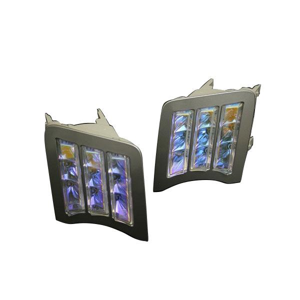 [COLIN] コーリン 【MBRO】エムブロ ZVW30 プリウス LEDフロントウインカー シャドーミラー グレーリム(LED9個) 旧品番 MBRO-T01066