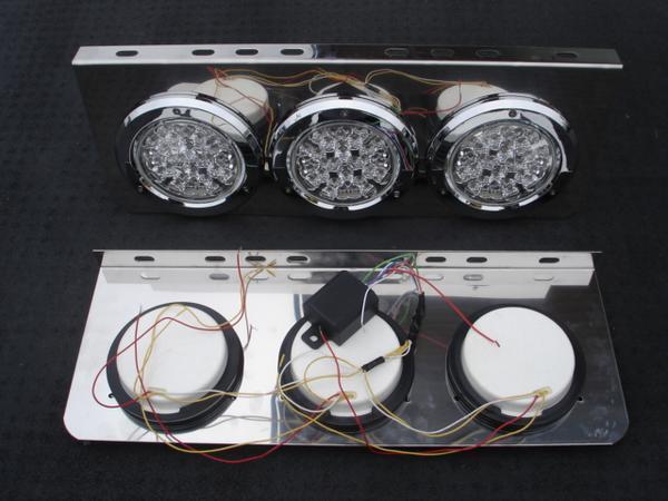【即納】【送料無料!】 ≪24V仕様 3連LEDトラックテールランプ≫ LEDテールで視認性UP (説明書付き)