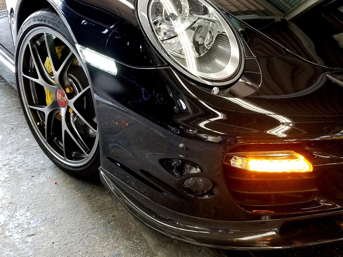 LEDウィンカー サイドマーカー クリア/ホワイト ポルシェ 911 997 前期 左右セット