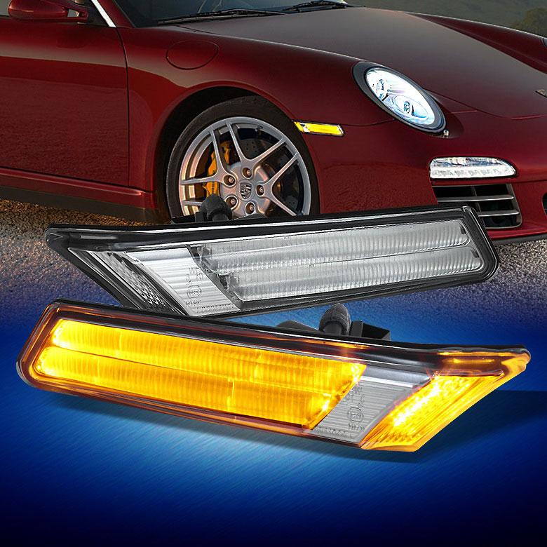 LEDウィンカー サイドマーカー クリア/アンバー ポルシェ 911 997 前期 左右セット