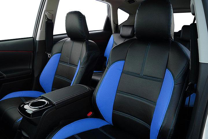 Auto wear オートウェア シートカバー プリウスα 40系 G's専用デザイン ブラック + 青色 プリウスα ZVW40W ZVW41W 2015年01月~ 5人 G's