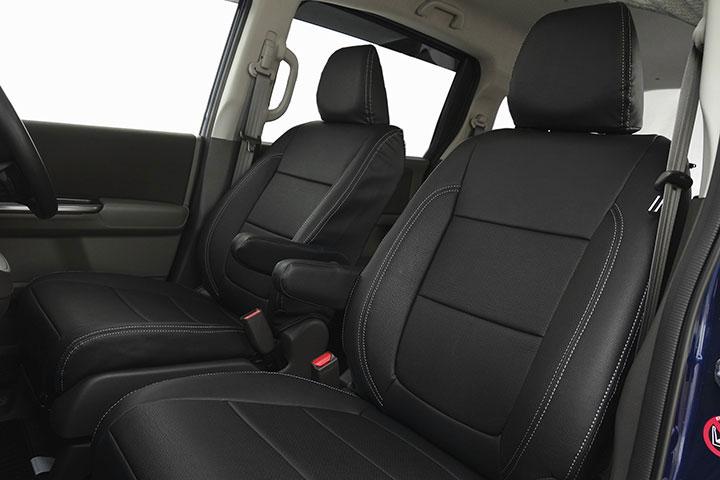 Auto wear オートウェア シートカバー フリードGB5-8系専用デザイン ブラック / シルバーステッチ フリード GB5 GB6 GB7 GB8 2016年09月~ 6人