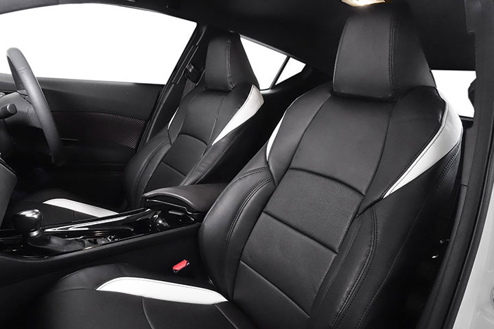 Auto wear オートウェア シートカバー C-HR専用デザイン ブラック + ホワイト C-HR ZYX10 2016年12月~ ハイブリッド