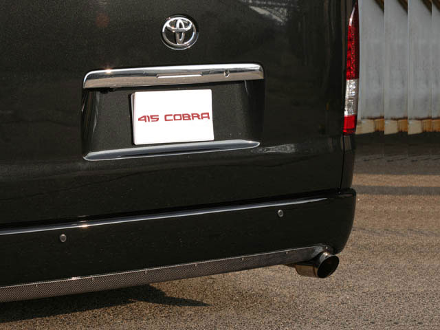 [415 COBRA] 【ワイド】 STAGE1 カーボンリアバランサー (シングル出し) ハイエース 200系 ワイドボディ 個人宅不可 大型荷物につき特別運賃