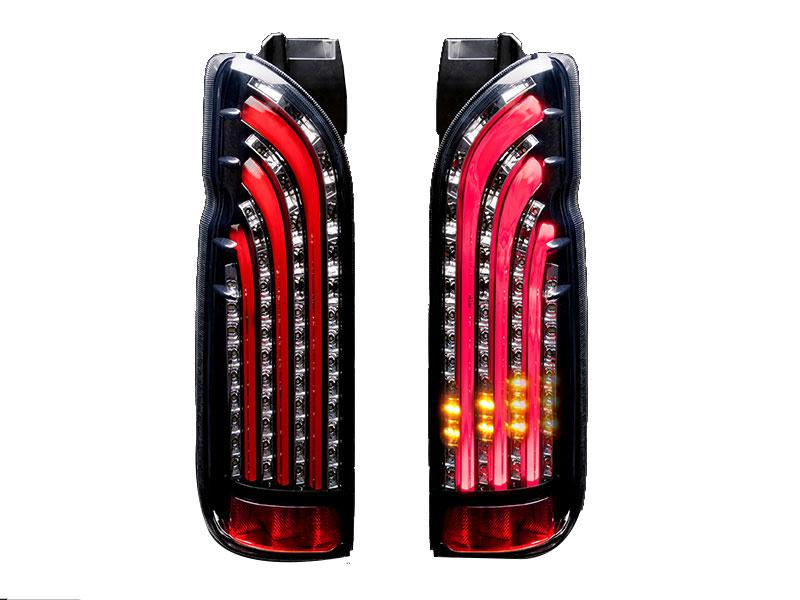 415 COBRA ライトセーバーシーケンシャル SQ-RED LEDテールランプ 1~5型 ハイエース 200系