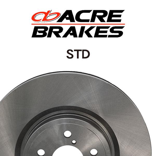 ACRE アクレ ブレーキローター スタンダードタイプ フロント用 インプレッサ GDB 00/08~04/05 2000 標準brembo 4pot装着車 PCD100 アプライドA~D