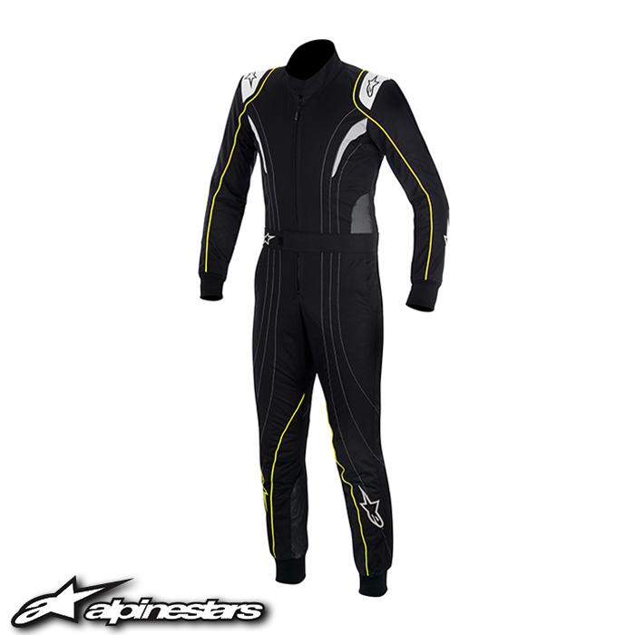 [アルパインスターズ] K-MX5スーツ (159 BLACK SILVER YELLOW FLUO) 50サイズ ※旧モデル K-MX5 ※在庫限りで販売終了。お問合せください。