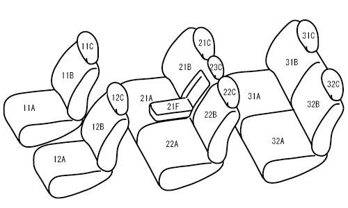 [Bellezza] ベレッツァ カジュアル S-LINE シートカバー プリウスα ZVW40W H27/3~ 7人乗 [SツーリングセレクションG's] ※北海道は送料3240円(税込) 沖縄・離島は要確認